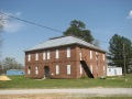 Clay County Agricultural High School, Pheba - Front and Side Façades of School, View to East, March 2009, W. White Photographer