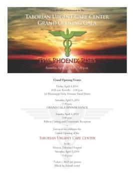 Invitation to TUCC Event