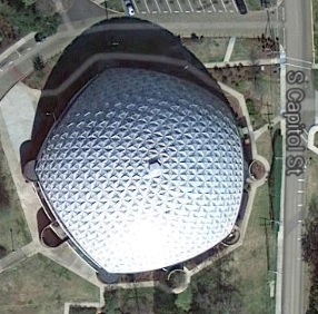 A. E. Wood Colliseum Mississippi College Clinton,Hinds County. From Google Maps accessed 4-15-14