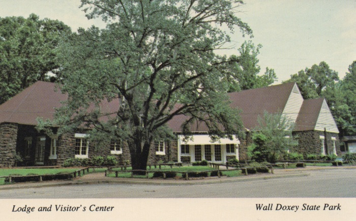 Lodge and Visitor's Center--Wall Doxey State Park. Located near Holly Springs, Wall Doxey is one of the original parks in the state system and features fishing, swimming, camping, vacation cabins, nature trails, and a lodge suitable for banquets, meetings, and dances. Wall Doxey State Park, Holly Springs, MS 38635. (601) 252-4231.