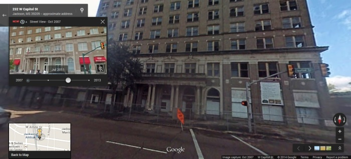 King Edward, W Capitol Street Jackson, Hinds County. Google Street View Oct. 2007  accessed 4-25-2014