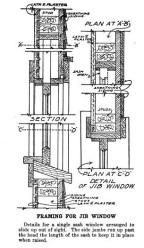 Plate 175 Jib Head window detail Radford's Portfolio of Details of Building Construction Edited William A. Radford 1911