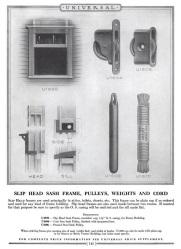 Single sash SlipHead Window Page 145 Universal design book no 25 on builder's woodwork. Dubuque, Iowa Universal Catalog Bureau 1927