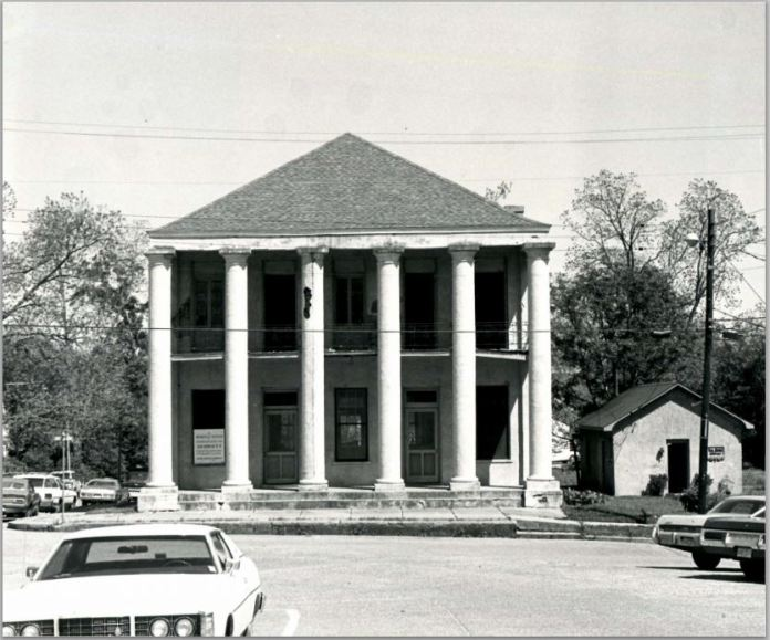West Feliciana RailRoad Company Office and Bank Gregory B. Free, MDAH April, 1977 from NRN on MDAH HRI accessed 5-13-2014