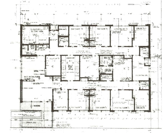 floor plan Johnson Wiener office Jackson Hinds Co.Architectural South Sept 1956