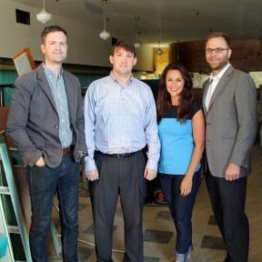Johnathan Shull, Brad Reeves and Amanda and Nathan Wells