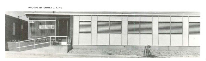 Johnson Wiener office Jackson Hinds Co. Emmet King c1956 Architectural South Sept. 1956