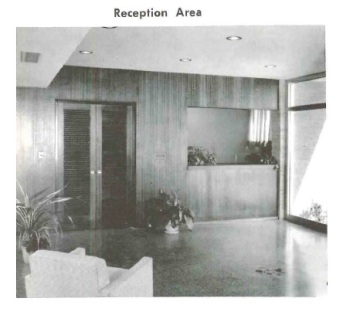 Reception Area, Mississippi State Medical Association office building. Jackson, Hinds Co. from Architectural South Oct. 1956