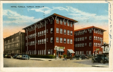 From Hotel Tupelo, Tupelo, Miss. Sysid 90698. Scanned as tiff in 2008/06/16 by MDAH. Credit: Courtesy of the Mississippi Department of Archives and History