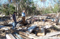 Debris pile. Charnley Norwood House. Ocean Springs Jackson County. MDAH 11-30-2005 from MDAH HRI db accessed 8-24-2014