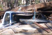 Debris where the surge left it. Charnley Norwood House. Ocean Springs Jackson County. MDAH 11-30-2005 from MDAH HRI db accessed 8-24-2014