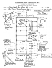 Floor Plan Schematic Stabilization, by Robert Sillman Assocs. 111 Main St., Bay St. Louis Hancock Co. MDAH 10-11-2005 from MDAH HRI db Accessed 8-13-2014