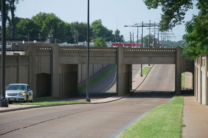 Underpass and pedestrian walkways