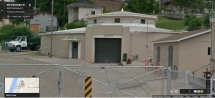 c1907 gasometer, Vicksburg Gas Light Company. Vicksburg Warren County. June 2013 from Google Street View, accessed 9-17-2014