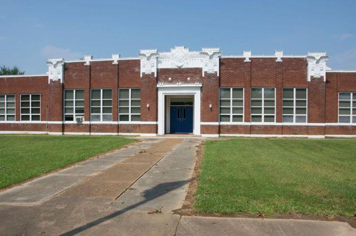 Flora school entrance
