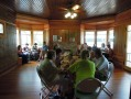 Our Main Street friends enjoying lunch during the Save My Place tour for Destination Downtown.