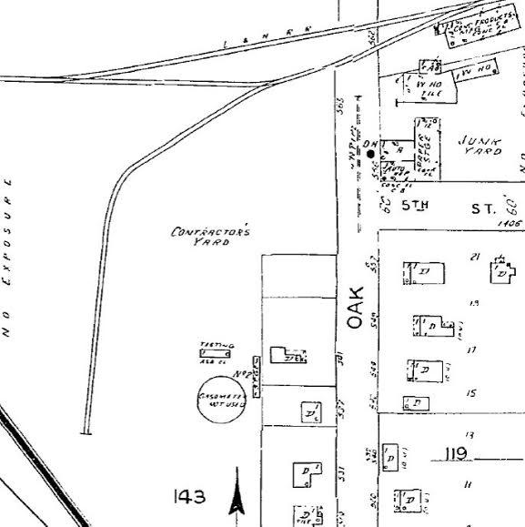 Biloxi, 1952 Gasometer is no longer in use.