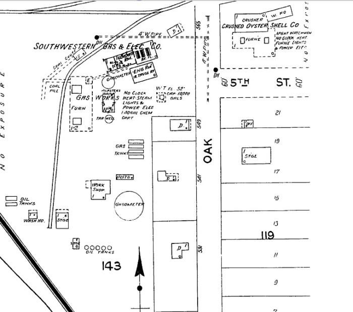 Biloxi Feb 1925 Sanborn Southwestern Gas & Elec Co.