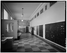 Lobby with view of mural, Historic American Buildings Survey, retrieved from http://www.loc.gov/pictures/item/mso225/