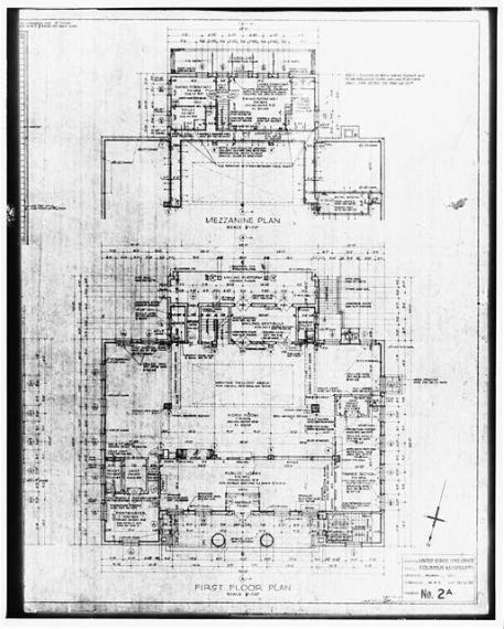 Columbus Post Office floorplan, retrieved from http://www.loc.gov/pictures/item/mso225/