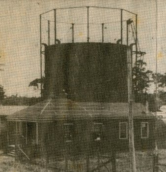Gasometer, Gulf Coast Gas Company, Biloxi. Walter Fountain Collection-Local History and Genealogy Department - Biloxi Public Library