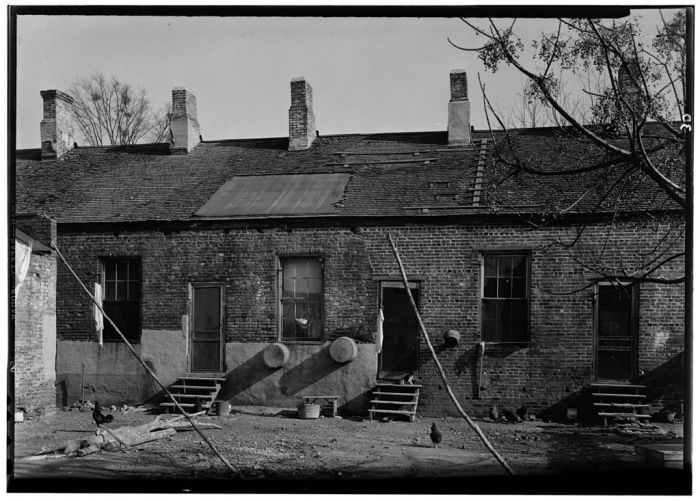 COURTYARD - Lawyers' Row, State & Wall Streets, Natchez, Adams County, MS. Lester Jones, Photographer, HABS. Feburary 21, 1940.