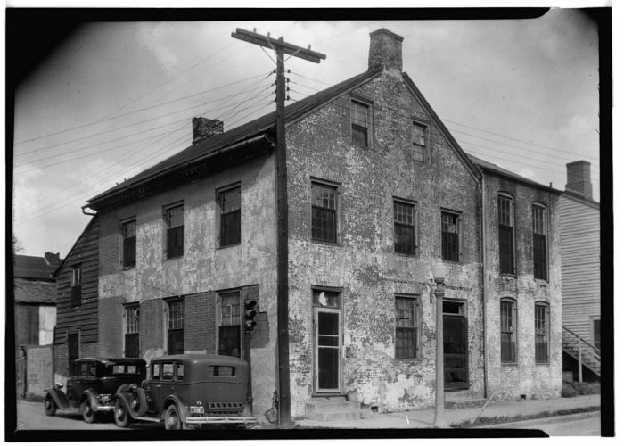 GENERAL FRONT VIEW (SOUTHWEST ELEVATION) - Marschalk Printing Office, Wall & Franklin Streets, Natchez, Adams County, MS. James Butters, Photographer. Mar, 28, 1936.