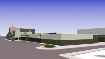 Rendering of the Meridian Police Department by architect Jerry G. Hobgood, who worked with Chris Risher, Sr.