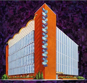 original rendering courtesy of Defining Downtown at Mid-Century