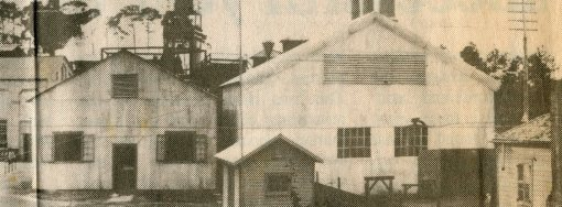 Generator Room (right), Engine room (left). Gulf Coast Gas Company, Biloxi Walter Fountain Collection-Local History and Genealogy Department- Biloxi Public Library.