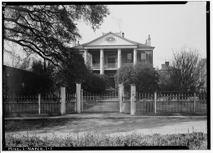 NORTH ELEVATION - Rosalie, 100 Orleans Street, Natchez, Adams County, MS. Ralph Clynne, Photographer, March 29, 1934.