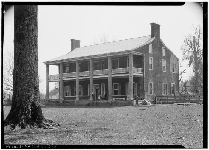 NORTH ELEVATION - Springfield, U.S. Route 1, Natchez, Adams County, MS. [Springfield is actually in Jefferson County, but is filed in Adams County in HABS] Ralph Clynne, Photographer, March 29, 1934.
