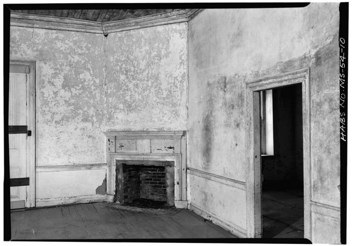 CORNER FIREPLACE, NORTHEAST ROOM, FIRST FLOOR. Springfield, U.S. Route 1, Natchez, Adams County, MS [Springfield is actually in Jefferson County, but is filed in Adams County in HABS]. Ralph Clynne, Photographer, March 29, 1934.