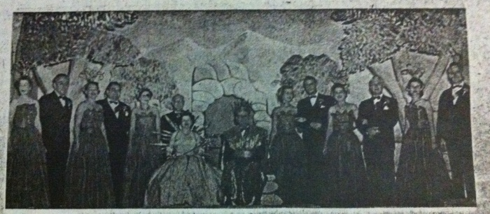 Billikens Carnival Organization Court 1952. Biloxi, Miss.