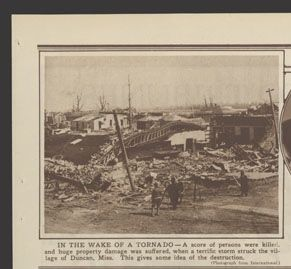"""In the wake of a tornado,"" The Chicago Tribune, 03/10/1929, p. 9."
