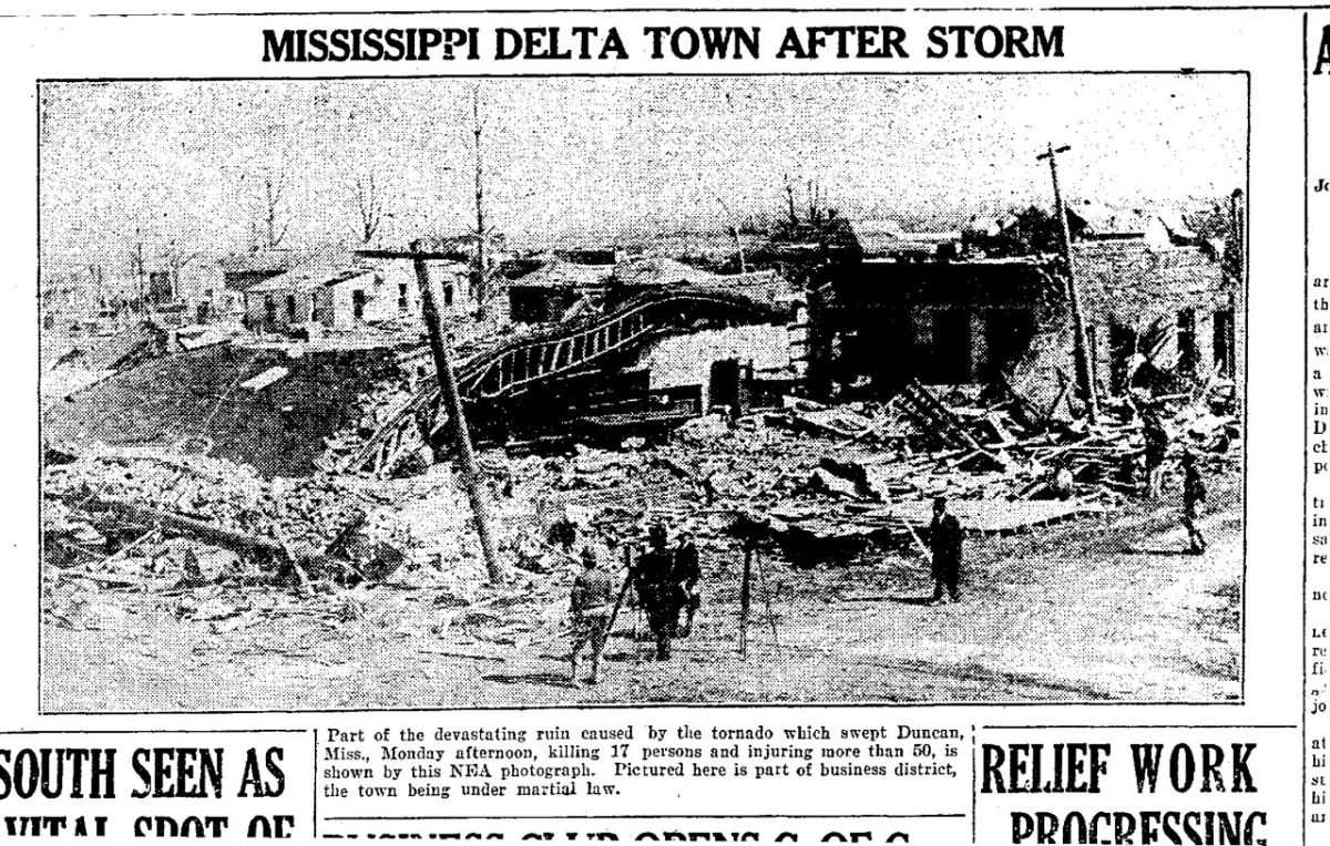 Duncan, Mississippi after the 1929 Tornado, Part 1