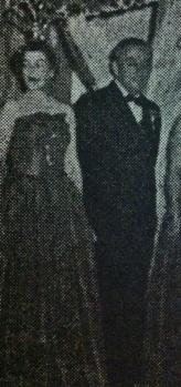 Mr. & Mrs. John Collins. Billikens Carnival Organization Ball Court 1952. Biloxi, Miss.