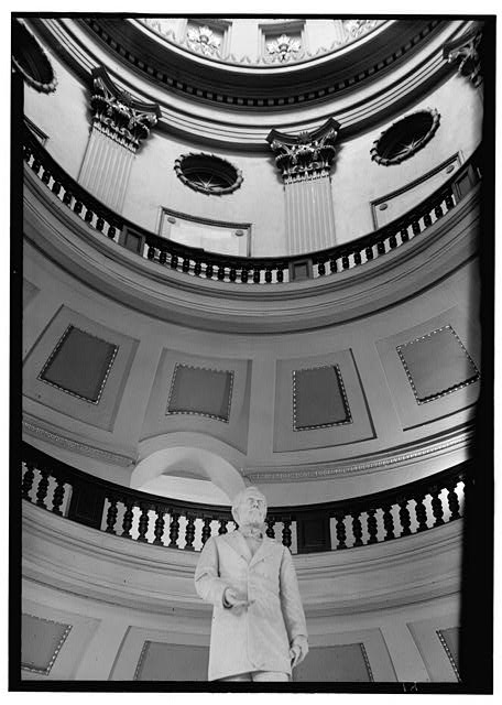 Historic American Buildings Survey. Lester Jones, Photographer February 20, 1940 FROM MAIN FLOOR, LOOKING UP