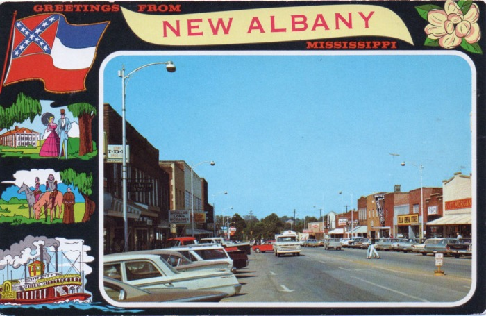 NEW ALBANY, MISSISSIPPI . . . Showing a portion of the downtown business section of this thriving city in Union County, Mississippi.