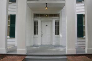 front door and portico