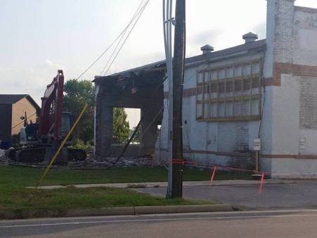 Demolition of this city-owned building began Saturday morning. Because government works 24/7.
