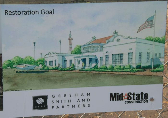 Proposed restoration of Hawkins Field Terminal Building