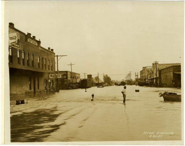 From Street, Greenville, 4-30-27. Sysid 97142. Scanned as tiff in 2008/01/04 by MDAH. Credit: Courtesy of the Mississippi Department of Archives and History