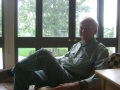 Fred Wagner in Tranquility's sunroom, August 6, 2010.