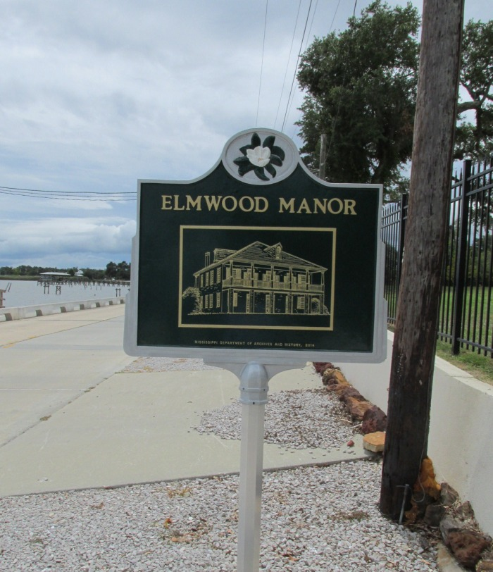 Elmwood Manor marker Bay St. Louis