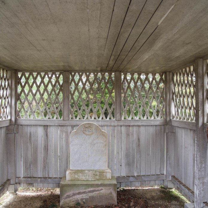 Criss family gravehouse, New Hope Cemetery, rural Yalobusha County