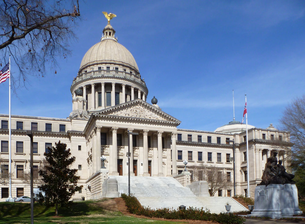 New capitol nominated for nhl status preservation in for Architecture firms jackson ms
