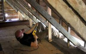 Collecting a dendron sample from the attic of the LaPointe Krebs House. Image courtesy of the Sun Herald. http://www.sunherald.com/news/local/counties/jackson-county/article61427667.html