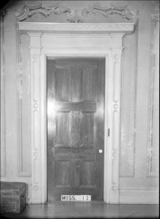 Interior detail, Beauvoir. Photograph by James Butters, 1936 (HABS No. MS-12-7).