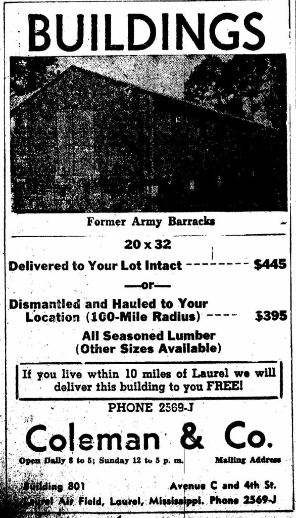 ArmyBarracks_0002--Laurel Leader Call 10-1948